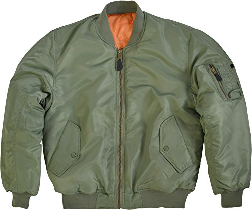 normani US Pilotenjacke/Bomber Jacke/Wende - Jacke Farbe Oliv Größe M Us-bomber