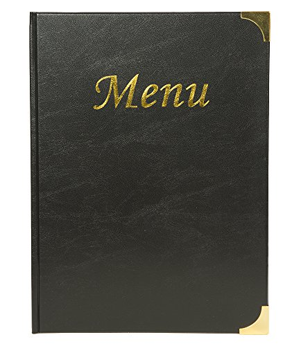 Securit porta menu' a4-24 x 34 cm nero in pvc basic con 4+2 buste fisse