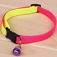 Kicode Moda linda Mascota, perrito, perro, gato Collar con Bell Seguridad Duradera Ajustable Aprovechar