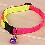 Moda Pet Puppy Dog Cat Colorful Collar Bell Cute 1.0CM Bardatura sicura