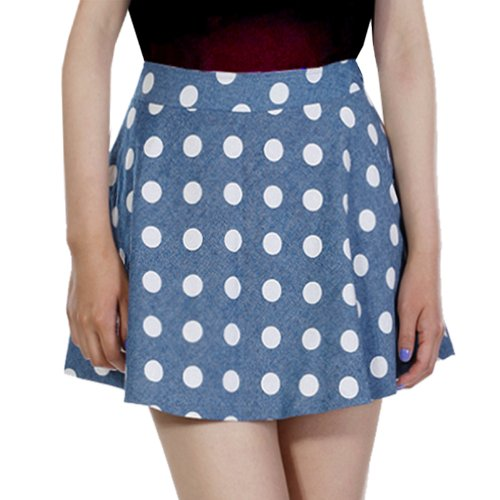 Polka Dot Cotton Skater Skirt (sizes 12-14)  The 50s had a strong influence on 80s fashion, with both polka dots and skater skirts making a return. This skirt is ideal for an alternative 80s look. Add a big white or neon belt.