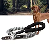 Gudelaa Hundeleine Adjustable Hund Zugseil Hohe Elastizität Retractable Shock Absorption Pet Leads für Hundetraining, Wandern, Wandern & Reisen grau