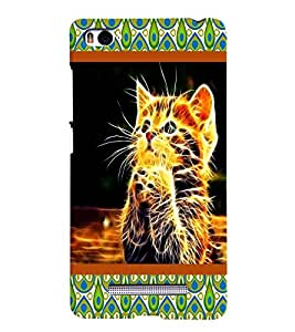 Crazy Cat Case Back Case Cover for Xiaomi Redmi Mi4i