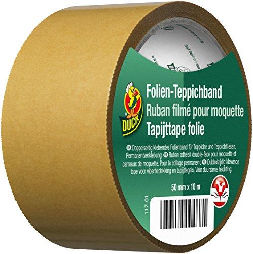 Duck Folien Teppichband - doppelseitiges Klebeband für permanente Verklebung von Teppich 50mmx10m (10x10 Teppiche)