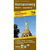 Hermannsweg, Rheine - Leopoldstal: Leporello Wanderkarte mit Ausflugszielen, Einkehr- & Freizeittipps, Straßennamen, Höhenprofil und Etappen, wetterfest, reissfest, abwischbar, GPS-genau. 1:25000