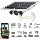 Wanscam® WiFi Sans Fil Solaire & Batterie Power Bullet IP caméra IR-CUT Night Vision Onvif Extérieure Imperméable à l'eau Sécurité