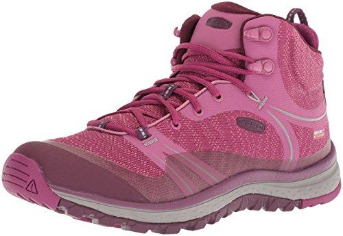Keen Terradora Mid WP-W - Zapatos de High Rise Senderismo de Sintético Mujer, Color Rojo, Talla 37.5...