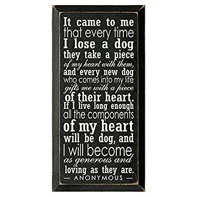 It Came To Me Wooden Dog Wall Sign by CATALOG CLASSICS