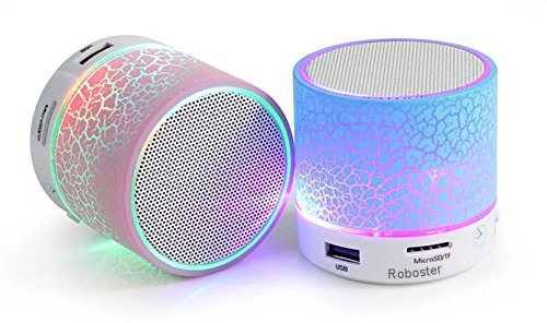 Roboster Rechargeable Bluetooth Speaker WITH LED Wireless Bluetooth Speaker ,Multicolor