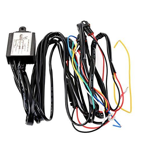 C-FUNN 12V Drl Dimmer LED Relè Dimmer Luce di Marcia Diurna Car On/off Switch Cablaggio con Flash Funzione di Ritardo Segnale di Svolt