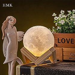 Lampada 3D creativa, a forma di luna, design unico, USB; luna magica, luce notturna, da scrivania, comodino; idea regalo, decorazione per la casa