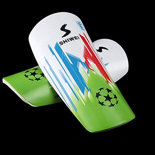 Wei? Fu?ball Shin Guards Jugend Leichten Shin Pads Breathable Kind Bein Kalb Protektoren f¨¹r Fu?ball-Fu?ball-Sport - 1 Paar (Kalb-pad)