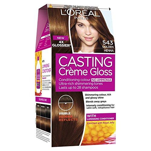 Loreal Paris Casting Creme Gloss Hair Dye 543 Golden Henna Light