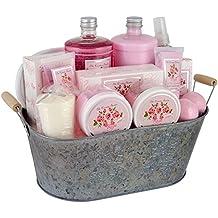 Gloss! Premium The Country Garden - Cesta de baño regalo, rosa