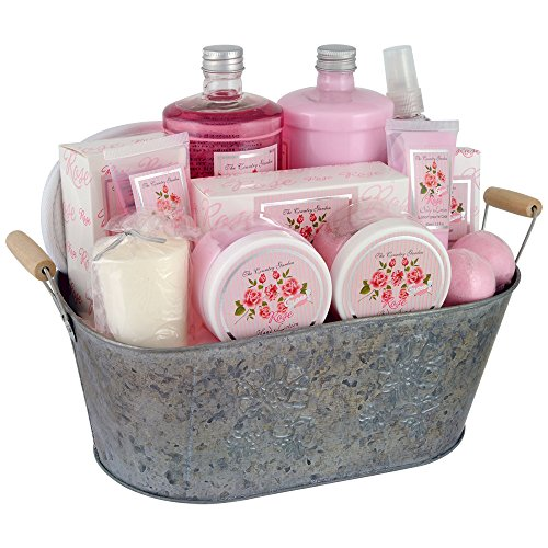 Gloss! Coffret de Bain Premium - The Country Garden - Rose - 12 Pcs, Coffret Cadeau-Coffret de bain