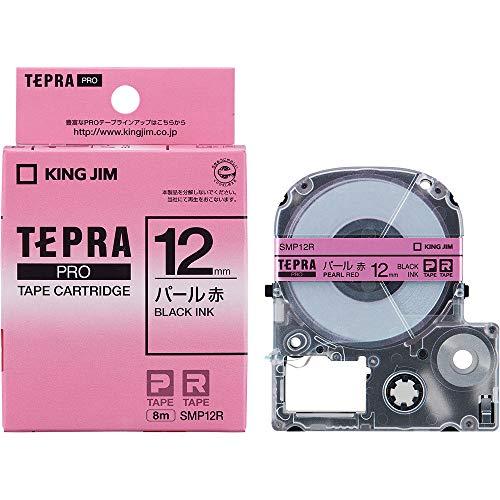 Jim King tape cartridge Tepura PRO 12mm SMP12R Pearl red