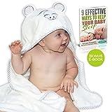 Luxuriöses Baby Kapuzenhandtuch von Liname – Antibakteriell & Antiallergisch aus Premium Bambus und Baumwolle – Extra Warm & Flauschig Weich – Extra Groß 100 x 70 cm für Babys & Kleinkinder