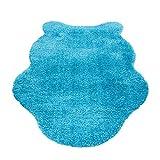 HomebyHome Schaffell Lammfell Teppich Kunstfell Imitat flauschig und weich 4,5 cm, Farbe:Türkis, Größe:133x190 cm