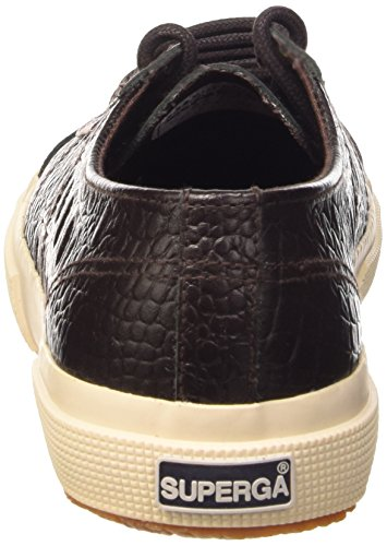 Superga 2750-Fglwembossedcocco, Sneaker, Donna K51 Dark Chocolate