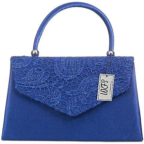 UKFS Ladies Kendall Lace Smart Elegant Evening Clutch Bag