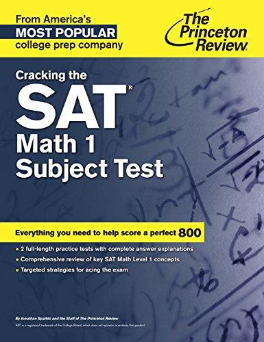Cracking The Sat Math 1 Subject Test (Cracking the Sat Math Subject Test)