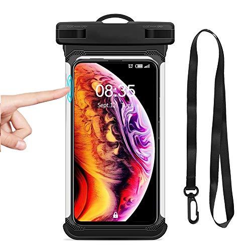 BoxLegend wasserdichte Hülle IPX8 6,6 Zoll wasserdichte Handyhülle Handytasche für iPhone X/XS Max/8 Plus/7 Plus/8/7 Huawei P30 Pro Galaxy S10/S9/S8 Pixel LG HTC für Handy Bis Zu 6,5 Zoll (Schwarz)