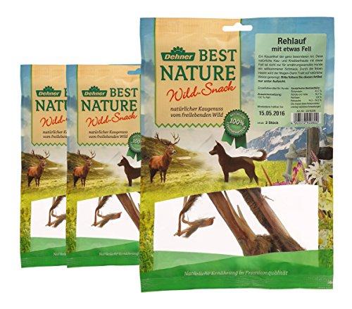 Dehner Best Nature Hundesnack, Rehlauf, 3 x 2 Stück