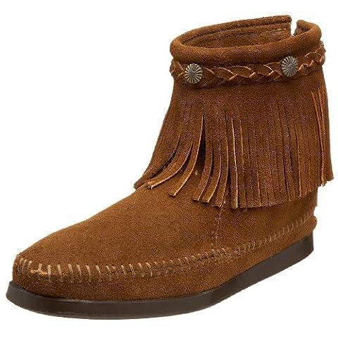 Minnetonka Women Hi Top Back Zip Ankle Boots, Brown (Dusty