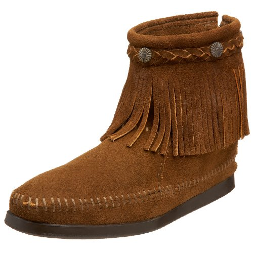 Minnetonka - Hi Top Back Zip, Stivali Mocassini Donna Marrone (Dusty BrownDusty Brown)
