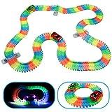 Circuito Coches para Niños Flexible 240 Piezas Pista de Carreras con 2 Coches Juguetes para Niños 3 4 5