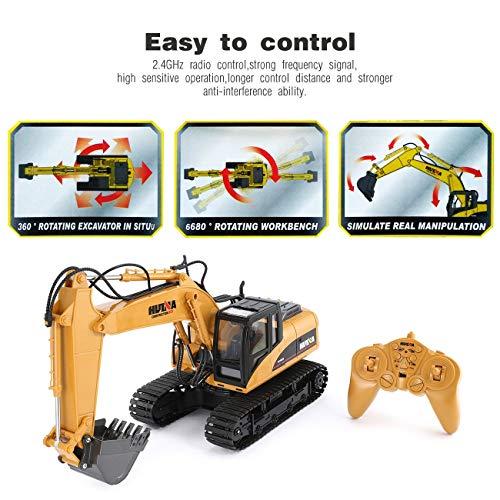 RC Auto kaufen Baufahrzeug Bild 3: HUINA 1550 1/14 2.4G 15CH RC Legierung Bagger LKW Baufahrzeug Spielzeug*