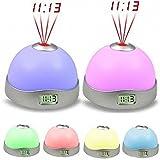 Digitaluhr LED Tischuhr Tisch- & Wanduhr, 7 Farbe, dimmbar, Wecker Ändern Stern Nachtlicht Magie Projektor LuckyGirls