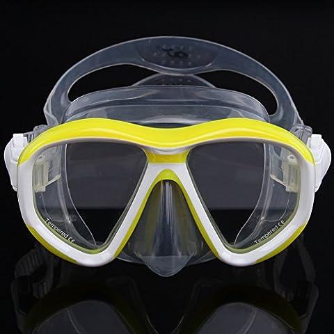 Wal Scuba Schnorcheln Dive Maske Gelb gelb