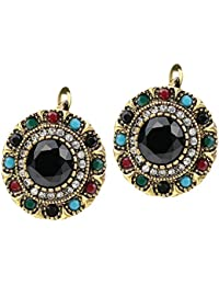 Shining Diva Fashion Jewellery Antique Tops Stud Traditional Stylish Fancy Party Wear Earrings For Women & Girls(Multi-Colour)(8718er)