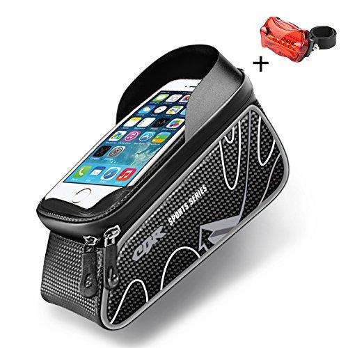 Handy Bildschirm Touch Halter & #-; in Rahmen Bike Bag mit Wasserdicht Touchscreen Handy Fall 12,7cm–15,2cm Bildschirm Größe grau