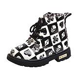 Zolimx Baby Mädchen Schuhe Schneestiefel Hausschuhe Krabbelschuhe Winter Warm Mode Sneaker Cartoon Print Stiefel Casual Chelseaboots