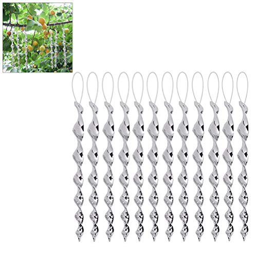 Gutyan Espantapájaros Repelente de Aves Reflectante Espiral de Viento Reflectante para Jardines Muelles y Botes de invernaderos 12Pcs 30cm Miedo a Las Aves para el Control de Las Aves