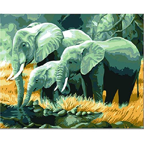Rompecabezas Para Adultos 3D Puzzle 1000 Piezas Rompecabeza Tres Elefantes Art Regalo...