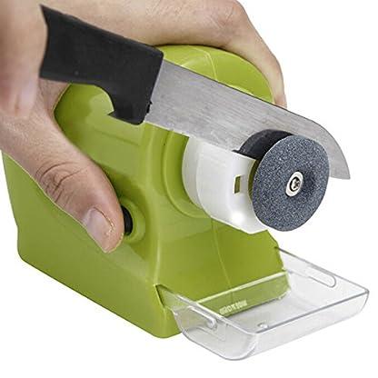 TOOGOO Piedra de afilar rotatoria motorizada multifuncional de cocina Piedra profesional electrico de cuchillo Herramienta de afilado Afiladora