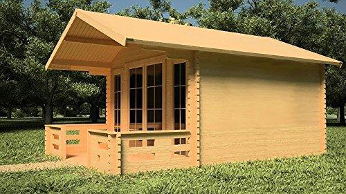 Gartenhaus KÖLN Blockhaus 380cmx300cm + 150 Terrasse - 45mm Holzhaus