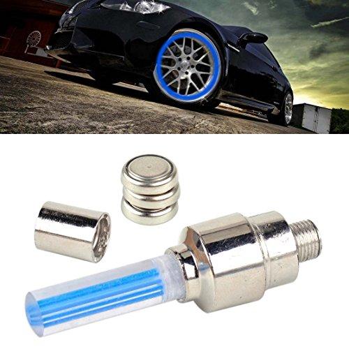 beler Blau Motorrad Fahrrad Auto Rad Reifen LED Licht Ventildeckel Beleuchtung Ventilkappen Lampe