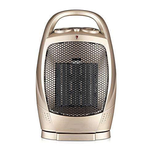 QNQ-chauffe Heizlüfter Heizungsdesktop-Haushaltsbadezimmer-Energieeinsparung Elektrische Heizung Energiesparendes Büro Minigröße: 19 * 12 * 29Cm Abs-Material - Gold