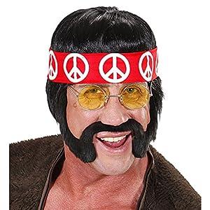 WIDMANN h6566peluca hippie, Negro, One size