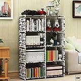 Teabelle DIY Bücherregal Bücher Regal 5Etagen mit 8Spalten Ständer Kleiderschrank Schwarz