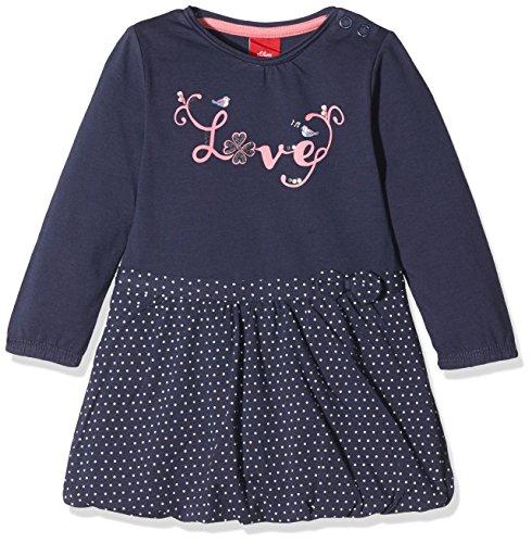 Mädchen Baby Kleid (s.Oliver Baby-Mädchen Kleid 65.708.82.2727, Blau (Blue Aop 58A5),)