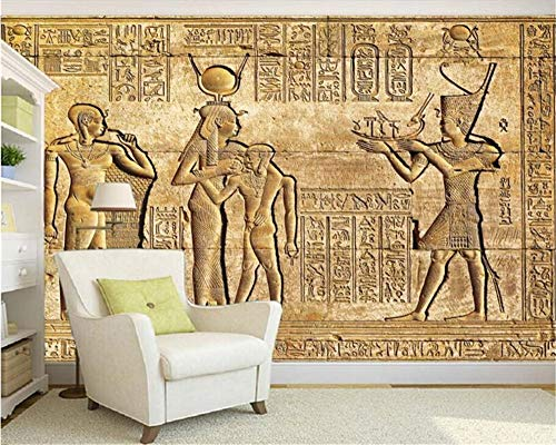 Weaeo Benutzerdefinierte Silk Material Wallpaper Hd Ägyptischen Reliefs Wandbild Mythologie Pharao Tv Hintergrund Wand Foto Tapete Wandbild-350X250Cm