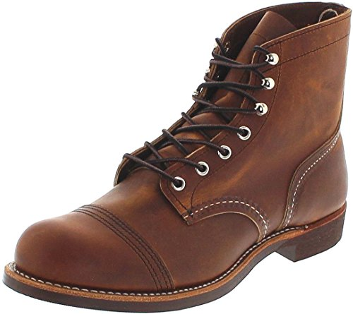 Wing-chukka-stiefel Red Herren (Red Wing Shoes Iron Ranger 8085 Copper/Herren Schnürstiefel Braun/Work Boots/Chukka Boots, Groesse:43.5 (10.5 US))