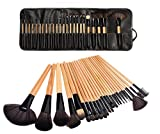 LyDia Beauty - Set pennelli Makeup Professionale in legno, 24 Pezzi