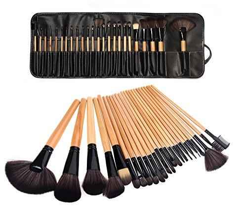 LyDia Beauty - Set pennelli Makeup Professionale in legno, 24 Pezzi