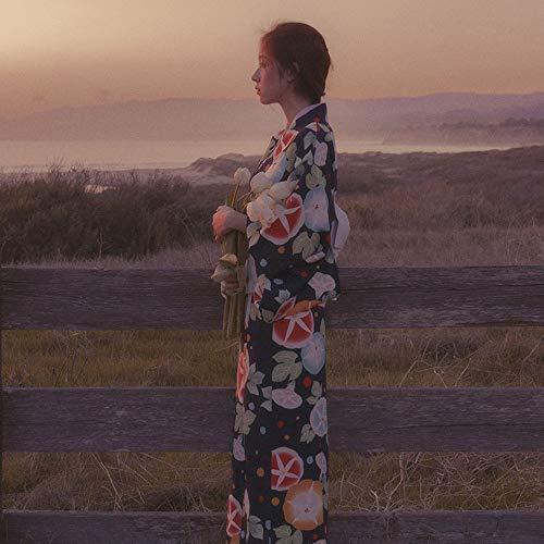 Japanische Traditionelle Kostüm - LiXiZhong Damen-Kimono, Bademantel-Kostüm, Traditionelles Japanisches Yukata, Traditionelles Japanisches Kimono, Traditionelle Kostüme, Kirschblütenfest, Feuerwerk, Mond-Wertschätzung (Size : M)
